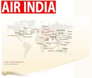 Air India logo. IATA code : AI ICAO code : AIC Callsign : AIRINDIA (air india routes map)