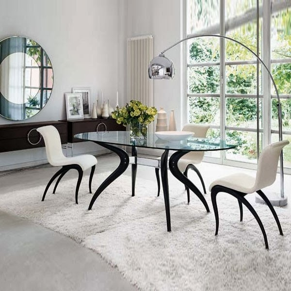 Comedores de color blanco y negro colores en casa for Comedor blanco y negro