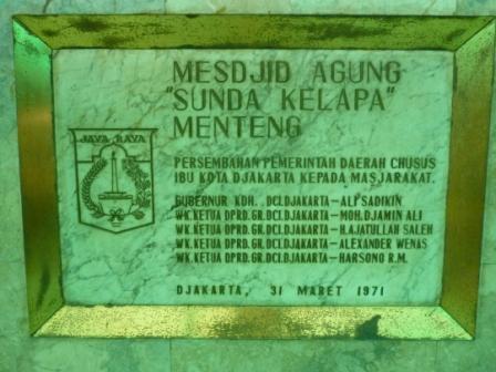 Pernikahan di Masjid Agung Sunda Kelapa Menteng