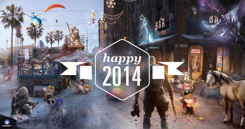 Ubisoft : Wishing you all a very happy New Year 2014