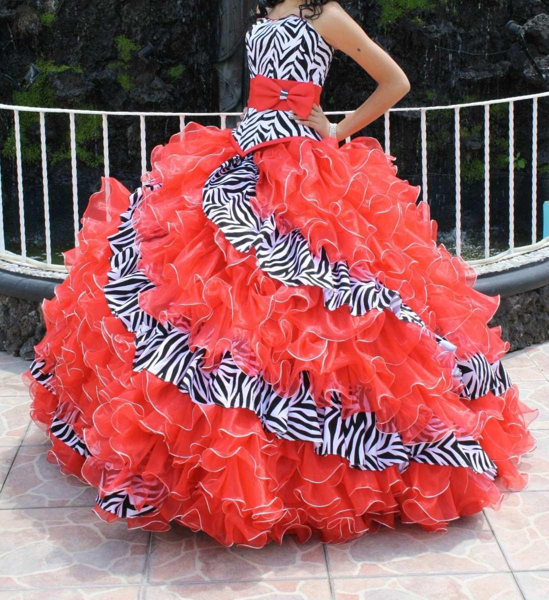 Zebra And Orange Prom Dresses 77