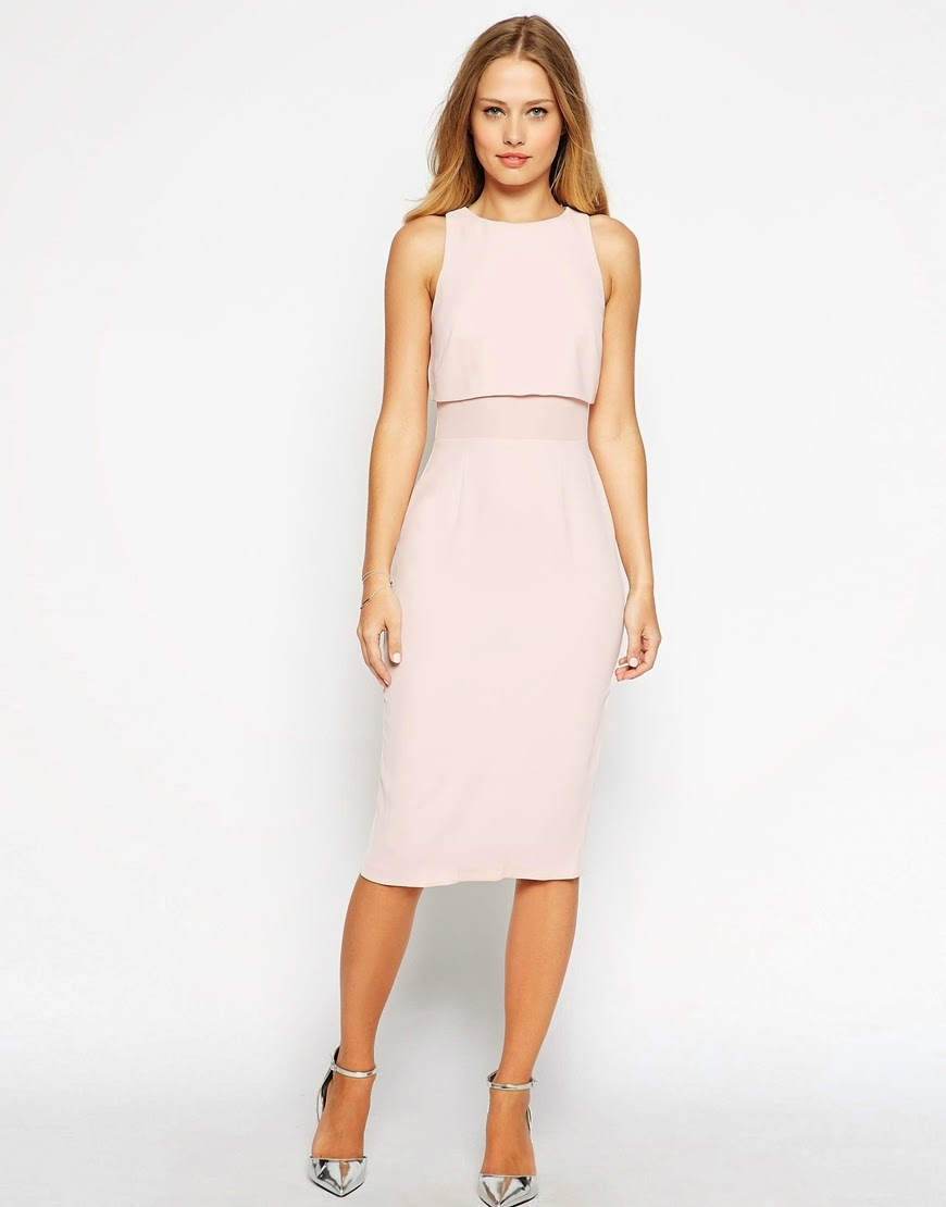pale pink overlay dress, pastel pink midi dress,