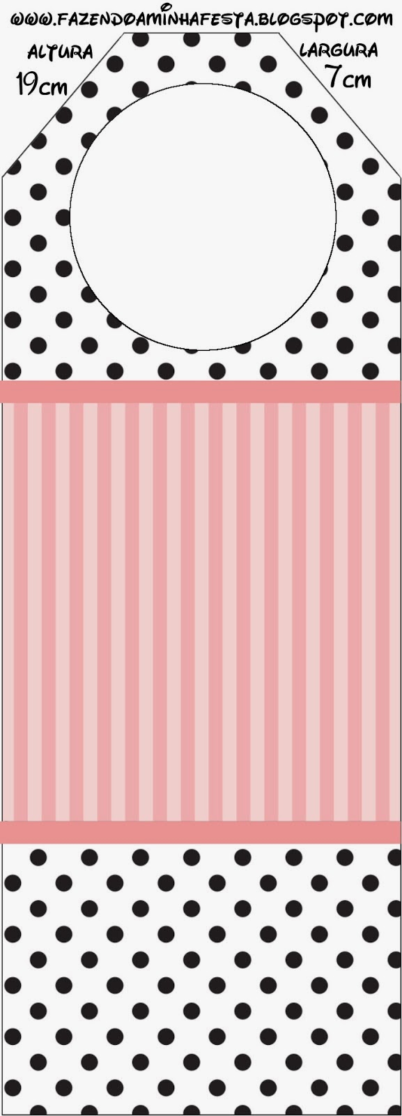 Free Printables of Pink, White and Black Stripes and Polka Dots.