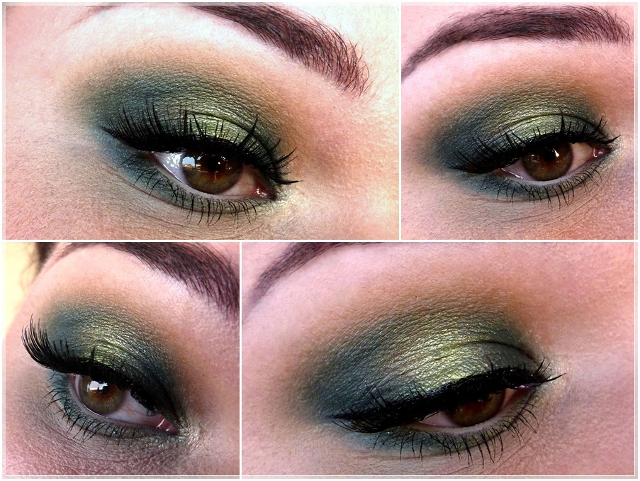 grünes smokey augen make up