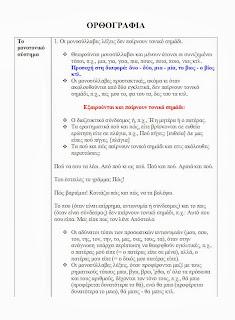 Σχολικο βοηθημα βασικοι κανονες ορθογραφιας