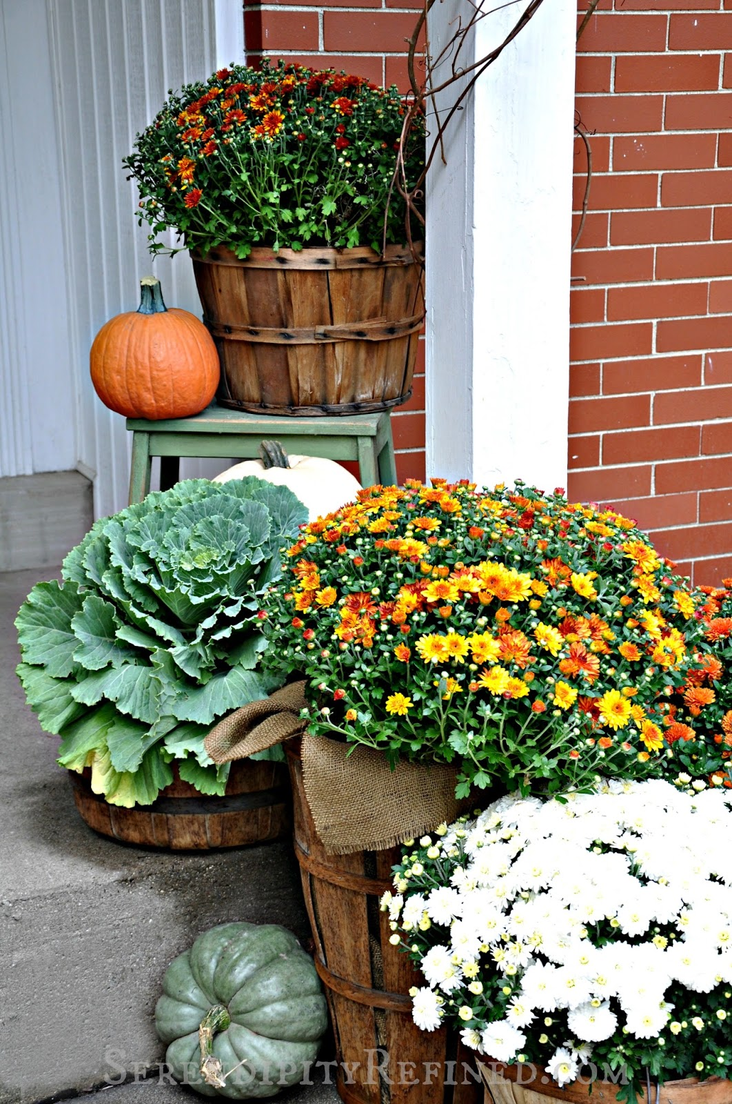Serendipity Refined Blog Fall Harvest Porch Decor With