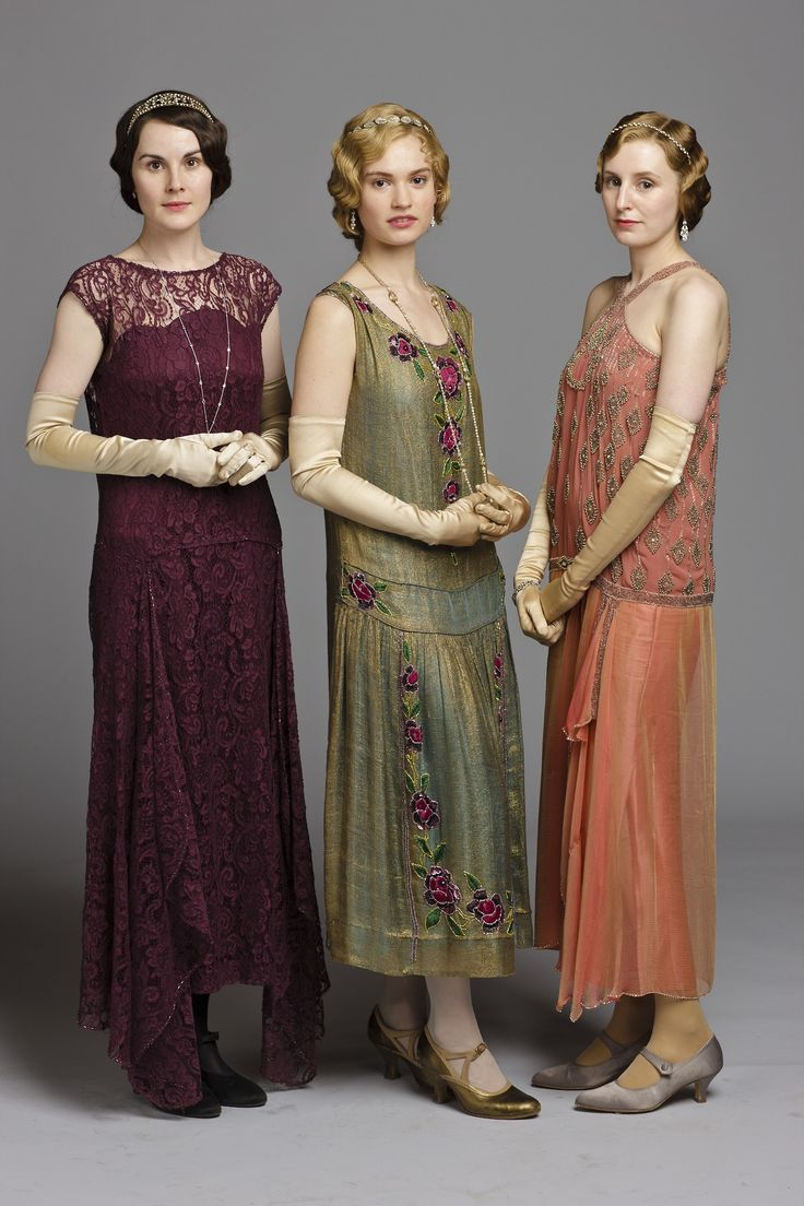 The Crawley Daughters Wearing 1920s Style Dresses