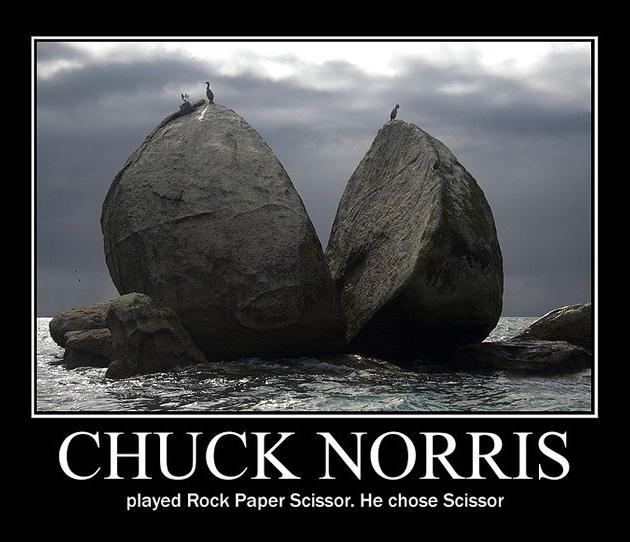 Chuck Norris Played Rock Paper Scissor - He Chose Scissor