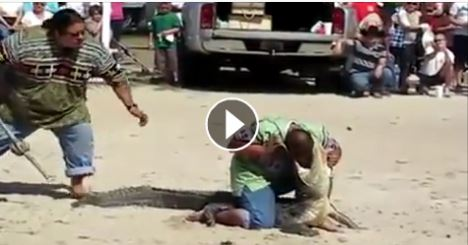 Crocodile Attacks a Boy at Beach