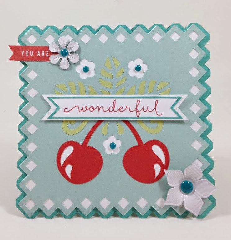 Cricut You Are Wonderful Cherry card
