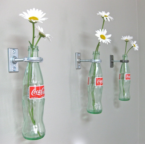 Upcycle Us Hanging Glass Bottle On A Wall