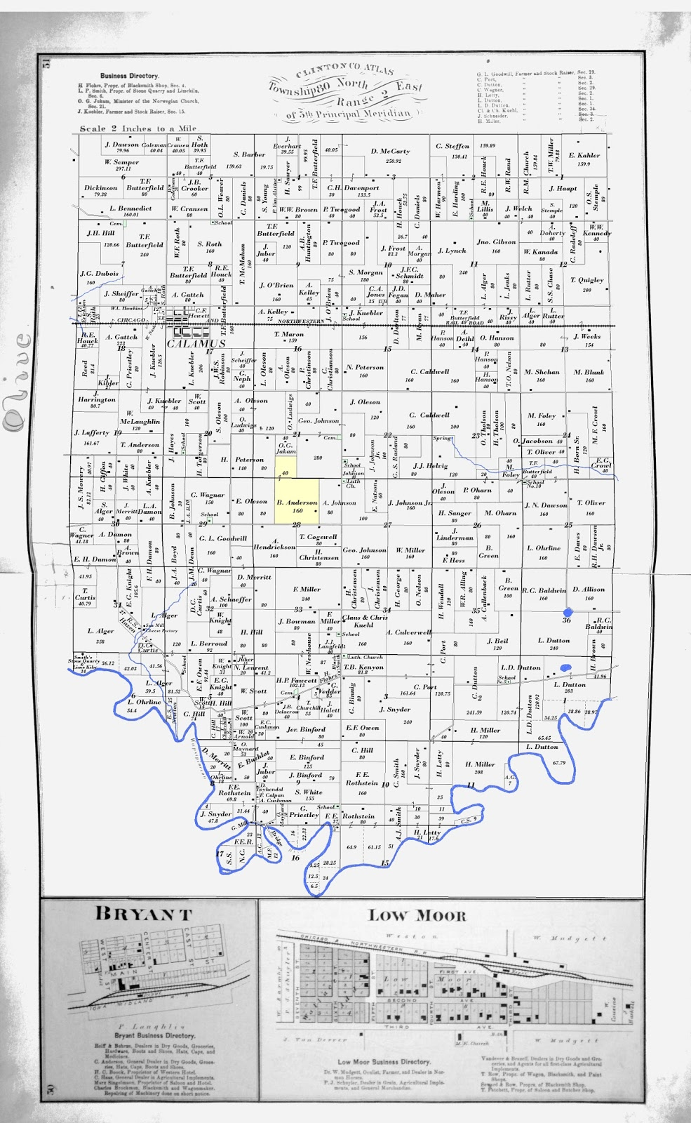 Concepts Contemplations 1874 Plat Map For Olive Township Clinton