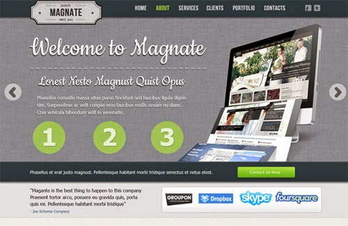 20 Best Free Template Website PSD File