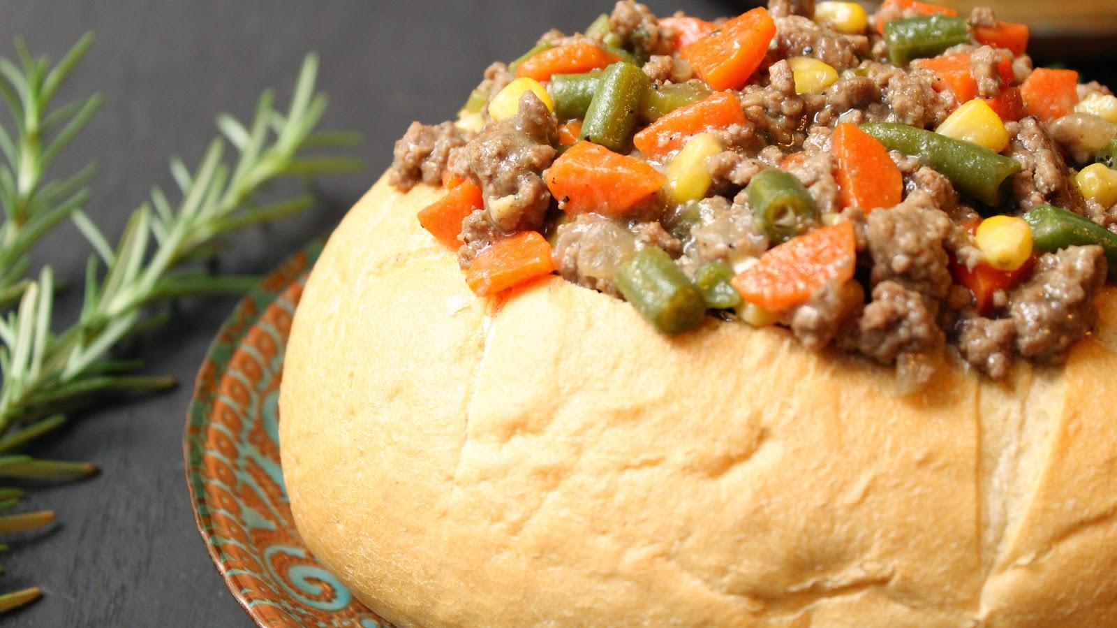 Bread Bowl Hamburger Stew