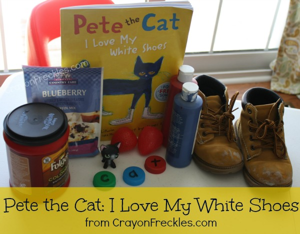 Crayon Freckles Pete the Cat I Love My White Shoes