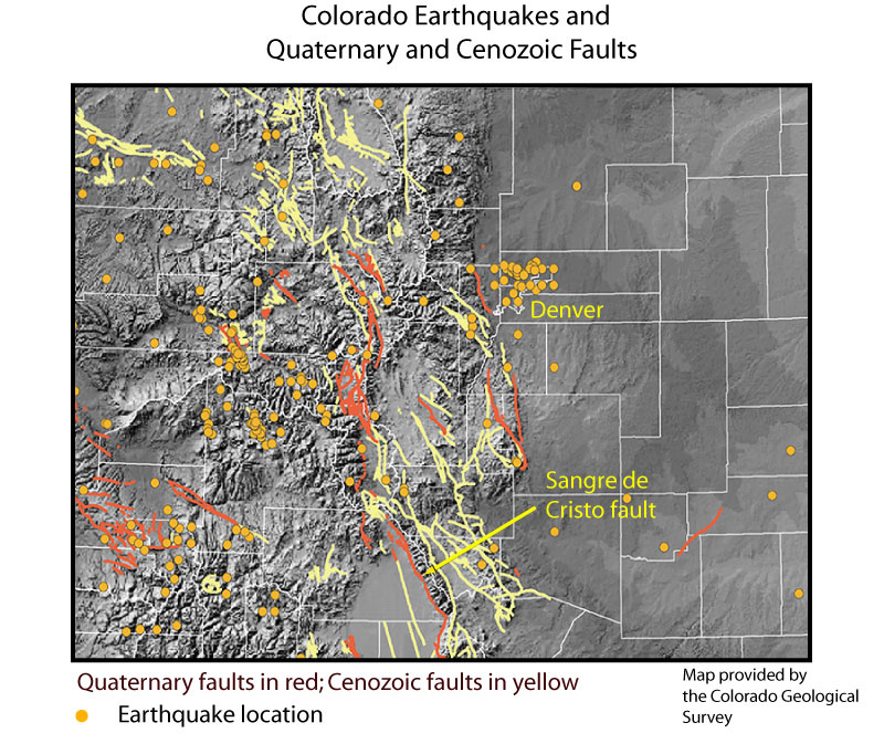 GEOL Current Natural Disasters - Us fault lines rocky mountains map