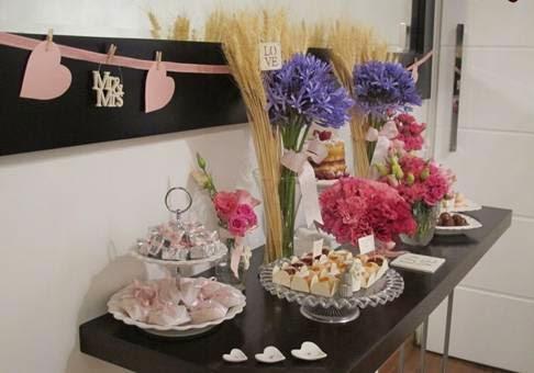 Decoração das bodas de couro e trigo