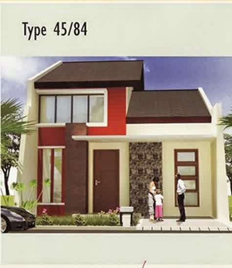 Contoh Desain Rumah Minimalis Type 45/84 2 Lantai
