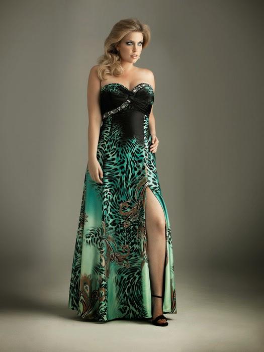 Ver fotos de vestidos de fiesta talles especiales