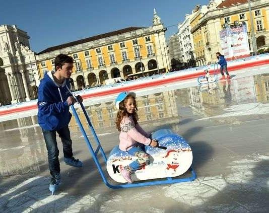 pista de gelo na Praça do Comércio, em Lisboa, até dia 31 de Janeiro