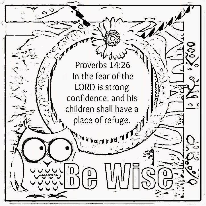 Wisdom Coloring Sheets 4