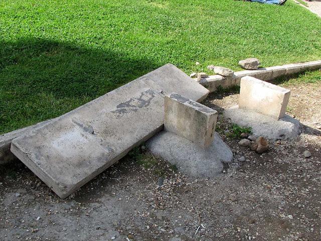 Destroyed bench, Foro Boario, Rome