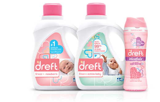 Dreft's latest products Newborn Active Baby Blissful Scent Booster
