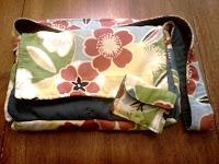 handmade sewn messenger bag with flowers