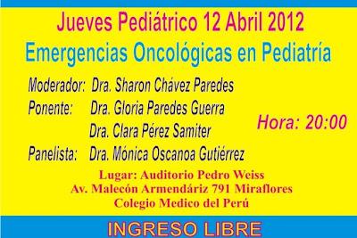EMERGENCIAS ONCOLOGICAS EN PEDIATRIA