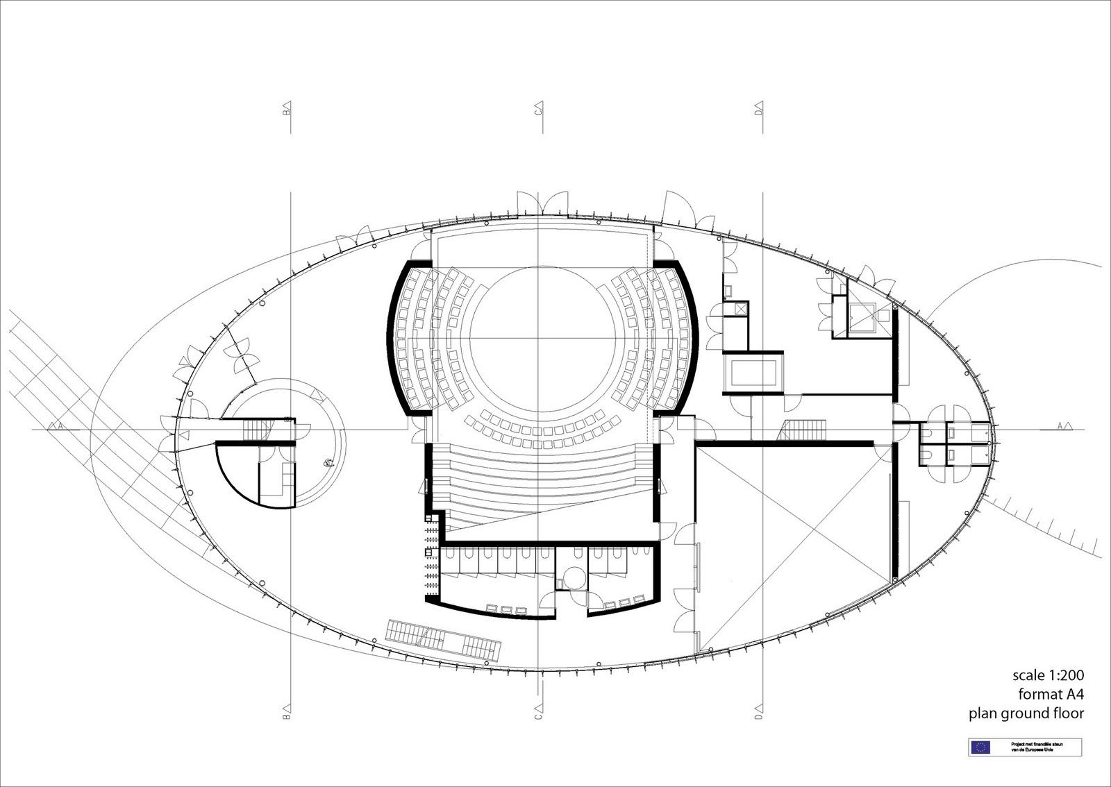 Theater Building Floor Plan