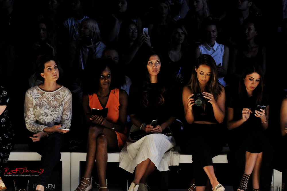 Front Row at a fashion parade, MBFW Sydney. Unique Event Photography.