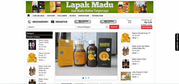 Lapakmadu.com Menjual Madu Online Terpercaya