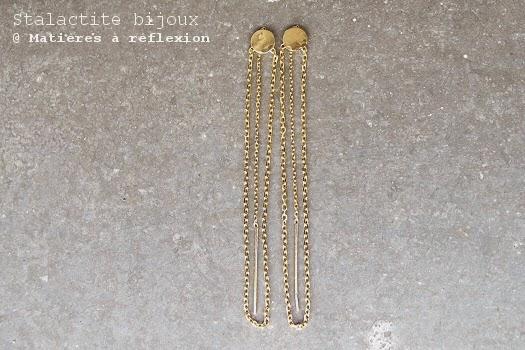 Boucles sequin sStalactite bijoux