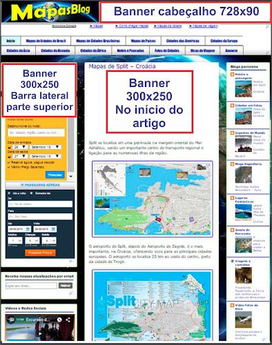 Publicidade no blog MapasBlog