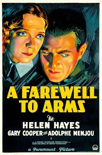 Cartel original de la película de Frank Borzage: Adiós a las armas (A Farewell to Arms) de 1932