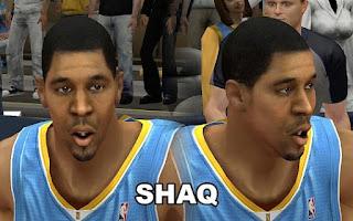 NBA 2K13 Denver Nuggets Cyber Face Mod Pack