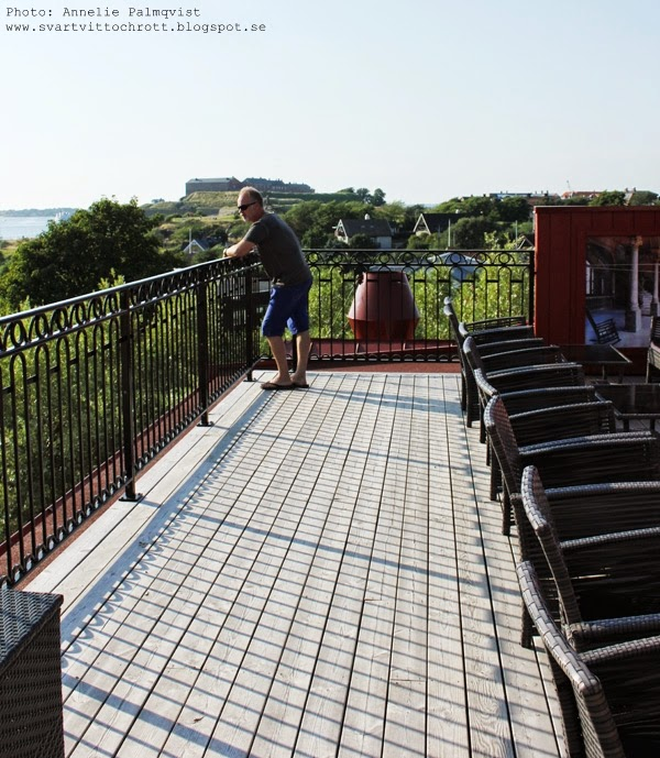 takterrass, varberg, tips, hotell havanna, vy över varbergs fästning, takbar, takbaren på hotellet, hemingway torn, terrass, terrassen,