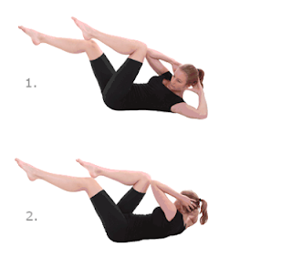 Laid-down bicycle exercise