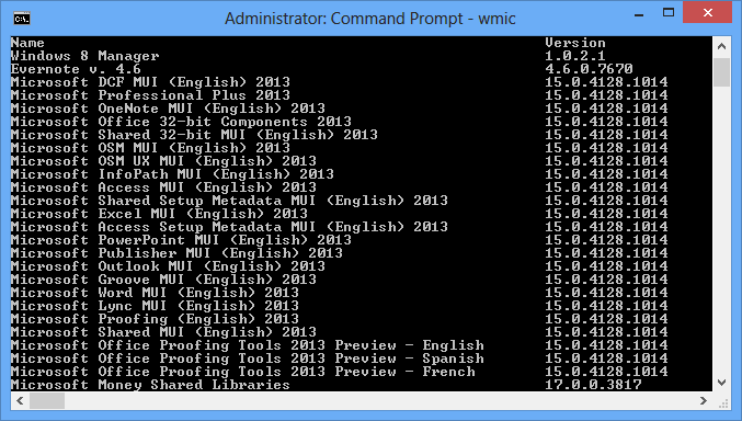 Uninstall Programs using Command Prompt in Windows