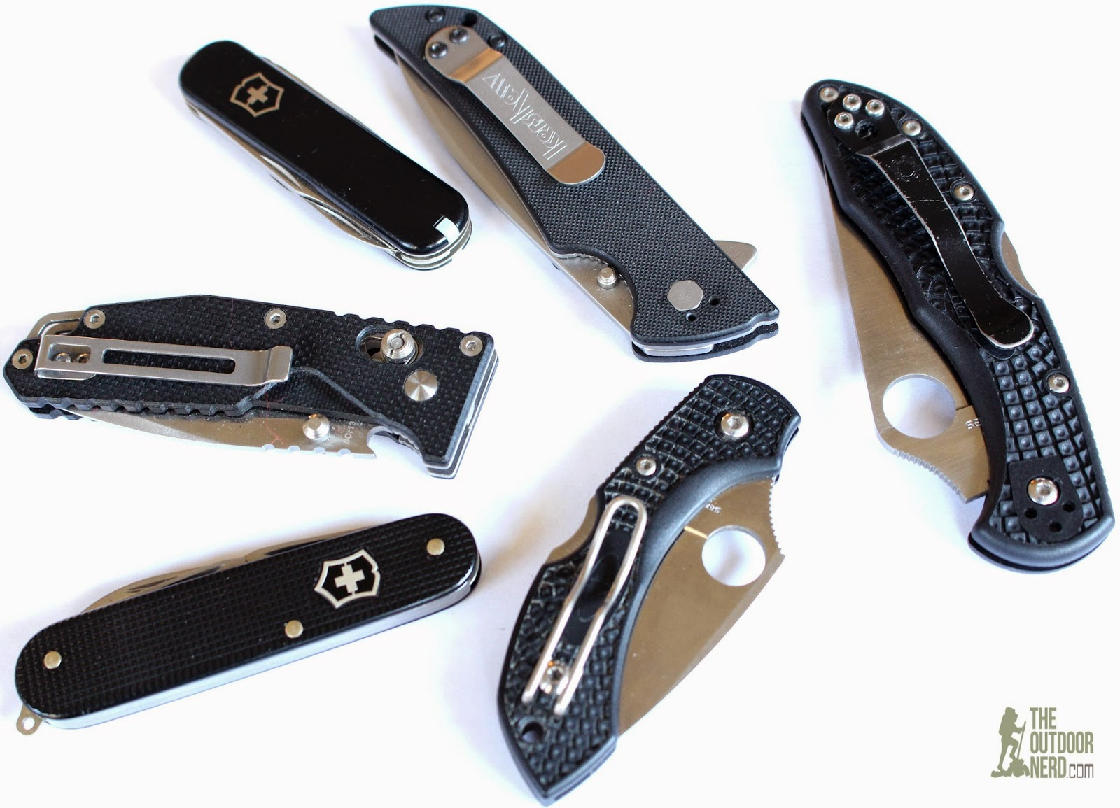 EDC Pocket Knives From Spyderco, Kershaw, Victorinox and SanRenMu