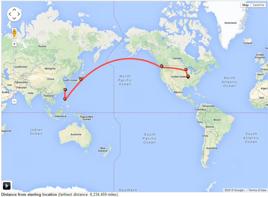 How To Track Your Travels with Google Location History Boarding – World Map To Track Your Travels