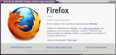 Imagen de Mozilla Firefox en Debian Squeeze