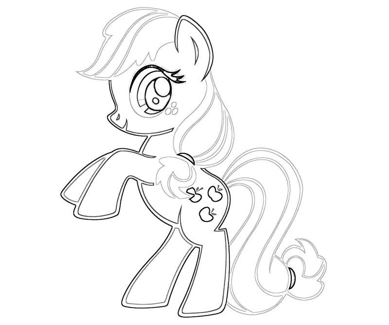 #10 My Little Pony Applejack Coloring Page