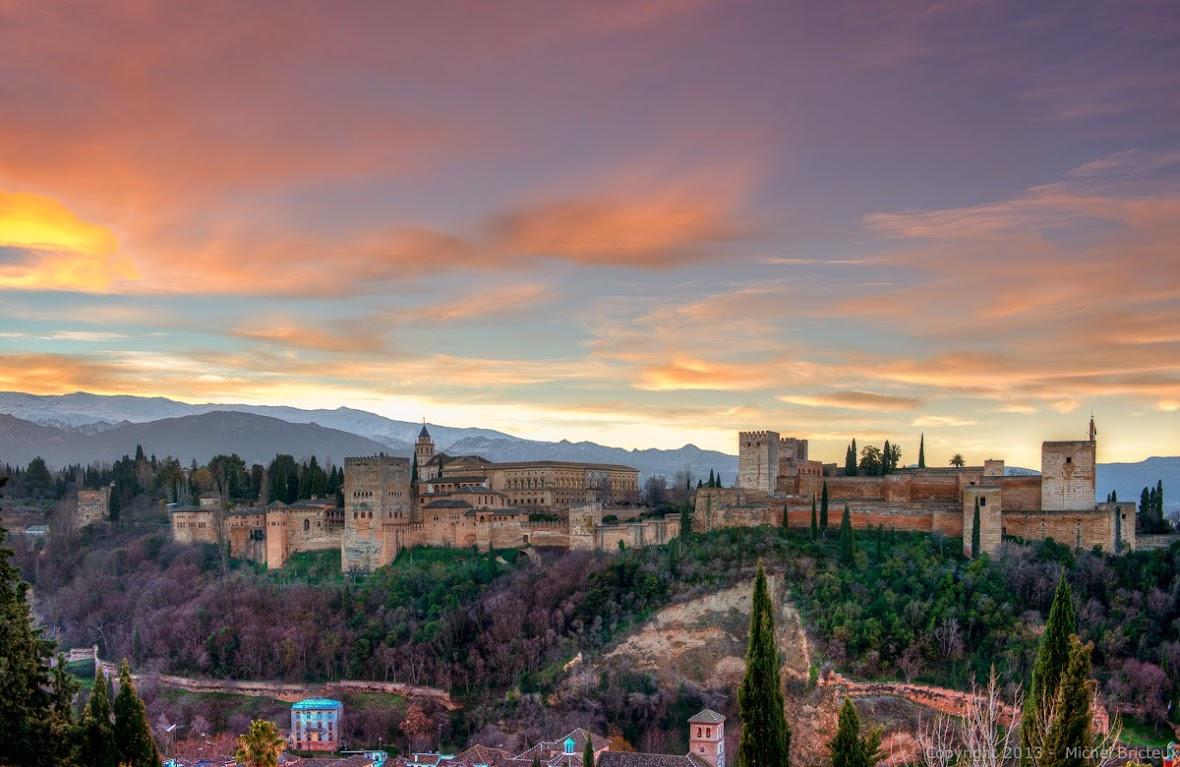 Almanecer en la Alhambra de Granada