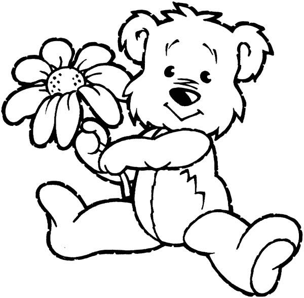 teddy bear face coloring pages - photo#21