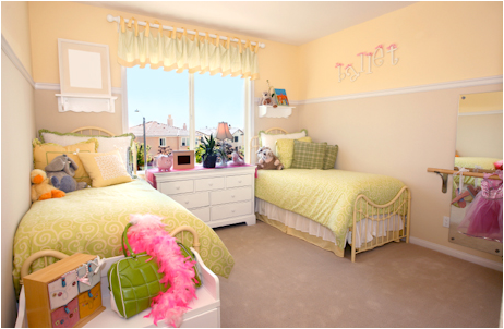 Key Interiors by Shinay Decorating Girls Room With Two Twin Beds