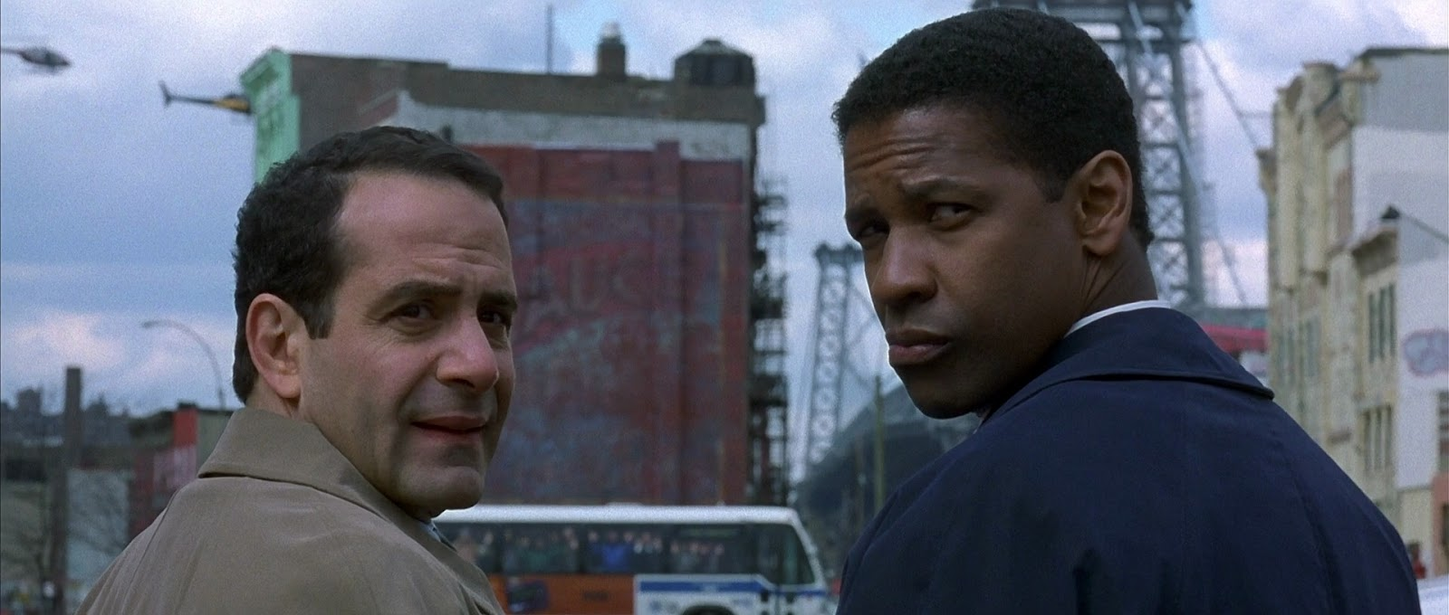 Tony Shalhoub and Denzel Washington