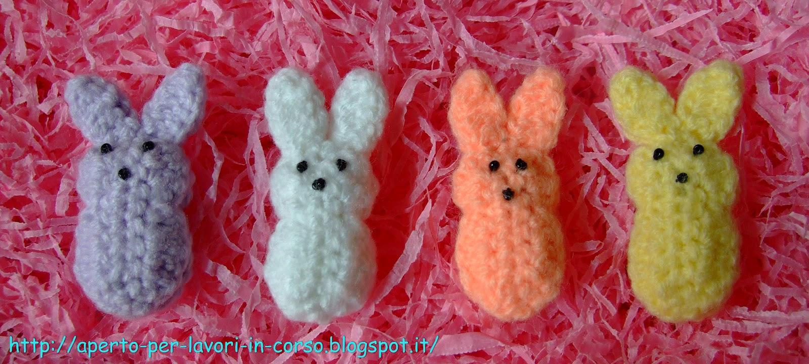 Il blog di laura mini coniglietti all 39 uncinetto for Lavori all uncinetto per pasqua