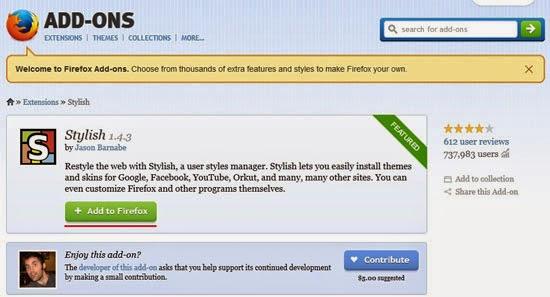 Tutorial merubah tampilan background atau tema pada Facebook, Google, Yahoo, Youtube, atau Website lainnya pada browser.