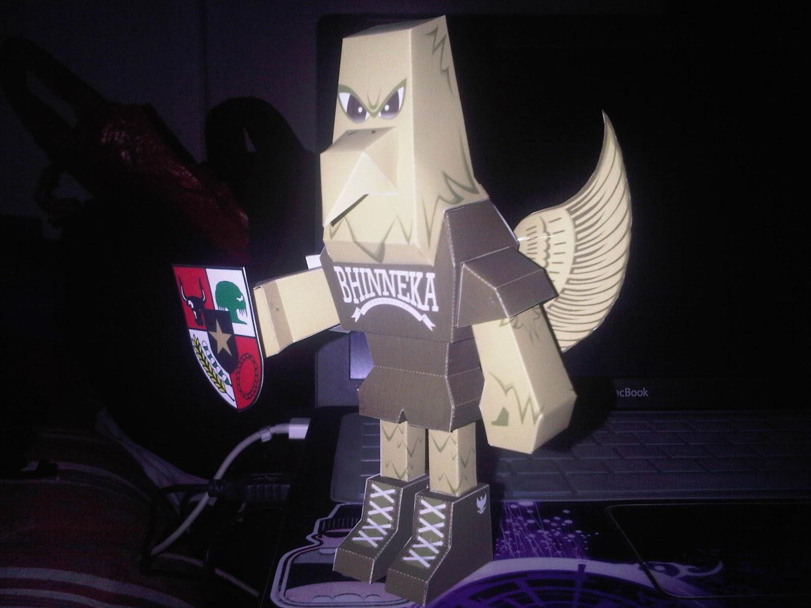 Garuda Pancasila Paper Toy